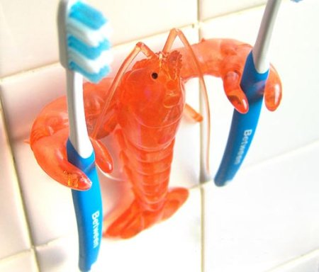 Crawfish-toothbrush-holder